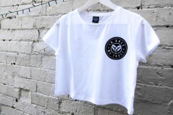plant faced clothing - in kale we trust - white crop